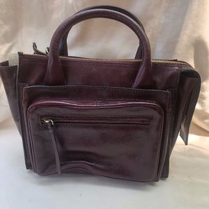 Zara red leather purse from Paris